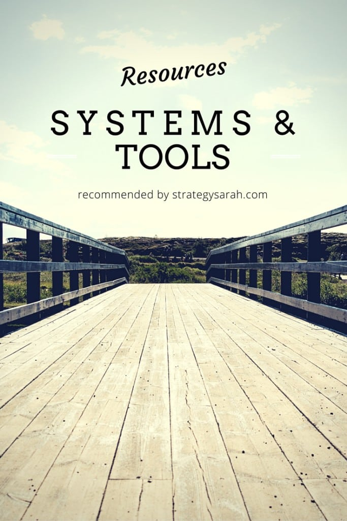 Resources, Systems & Tools | strategysarah.com