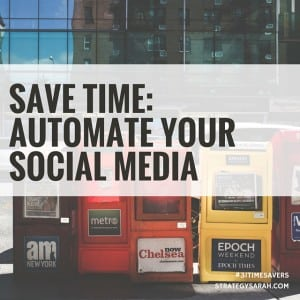 How do you schedule social media? | strategysarah.com #31timesavers