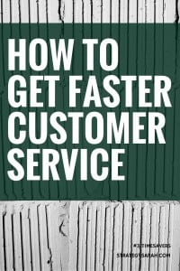 How to get faster customer service | strategysarah.com