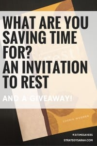 What are you saving time for? (with a giveaway!)