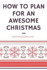 Christmas planning ideas, tips + my 2015 Christmas bucket list | strategysarah.com