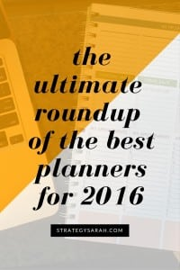 The Best Planners of 2016: Ultimate Planner Recap