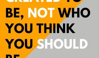 Be yourself. | strategysarah.com