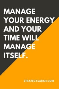 Energy management is more important than time management