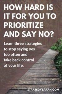 How to say no | strategysarah.com