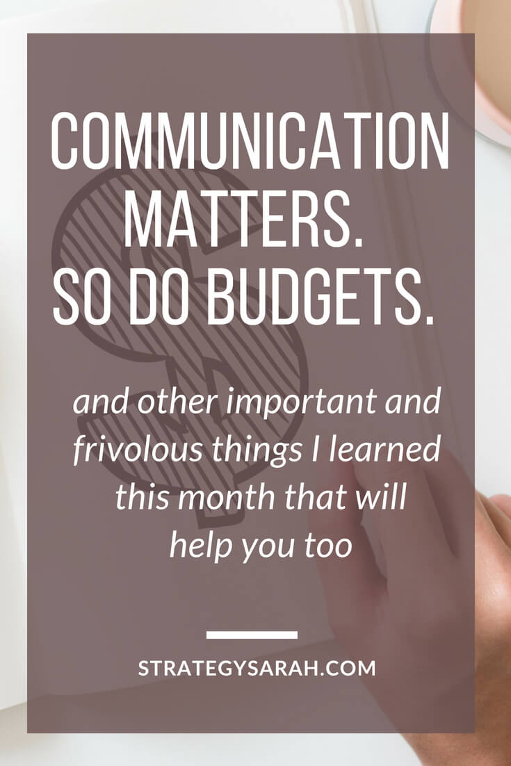 What communication, budgets, sun and planning all have in common? They're important to a busy working mom's life well lived. Here's how they can improve your life too.
