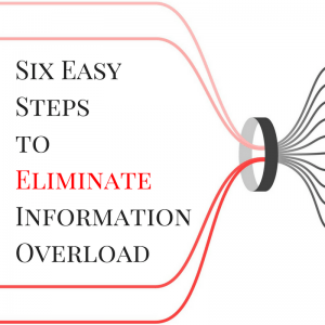 Six Easy Steps to Eliminate Information Overload | strategysarah.com