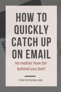 Quickly catch up on email with this easy organization tip. Even better, the same tips can be applied Outlook, Gmail, and any other email service, so you can use it both for work and your personal email. #emailmanagement #gmail #outlook #organizationtips #emailorganization #digitalorganization
