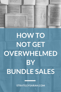 How to not get overwhelmed by bundle sales
